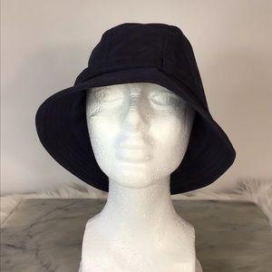 Lands' End Wide Brim Polyester Sun Hat L/XL Navy